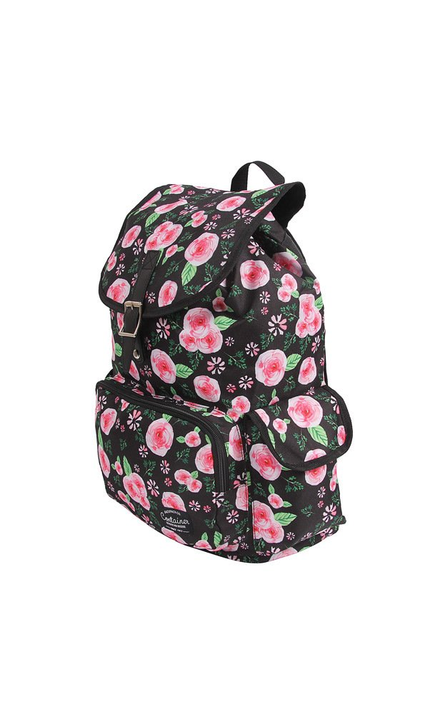 Mochila G c/ Bolso Frontal Container Floral – 30113 - comprar online