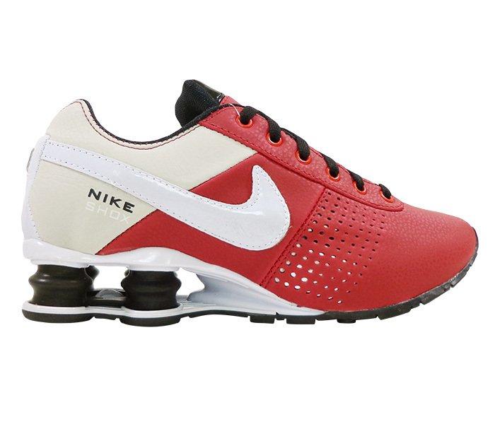 2cd8cdb4b23 Tênis Nike Shox Deliver Vermelho e Bege