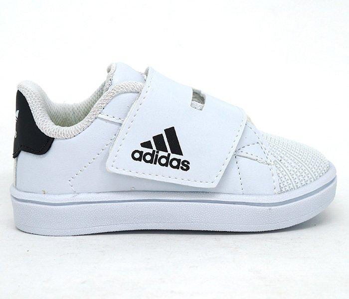 Tênis Bebê Adidas Velcro Branco e Preto. 0% OFF cf50d793636