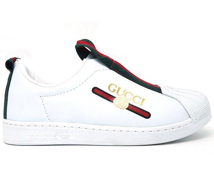3d826b841b Tênis Feminino Gucci Superstar New Slip Branco