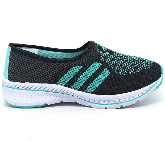 668073286 Tênis Feminino Adidas Slip Run Preto e Verde