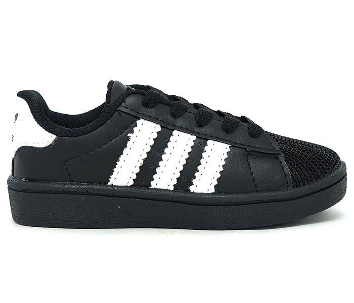 Tênis Infantil Adidas Superstar Preto e Branco. 0% OFF bb8761659d0