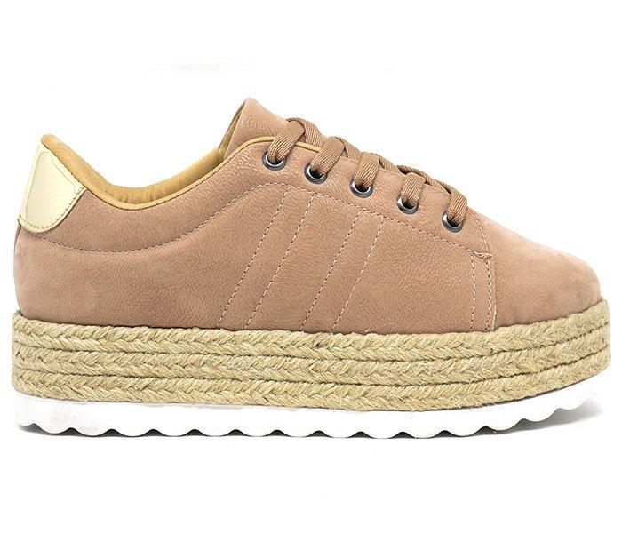24ad719f6 Tênis Feminino Plataforma Doma Shoes Marrom