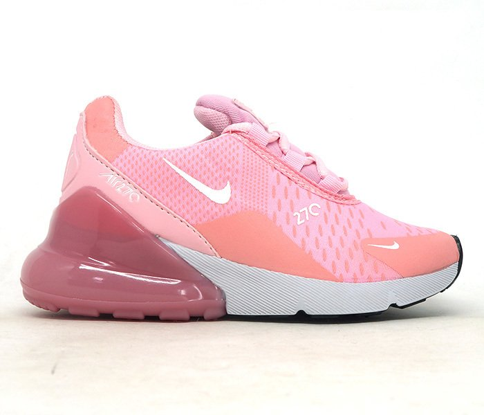save off b3389 16963 Tênis Infantil Nike Air Max 270 Rosa e Branco