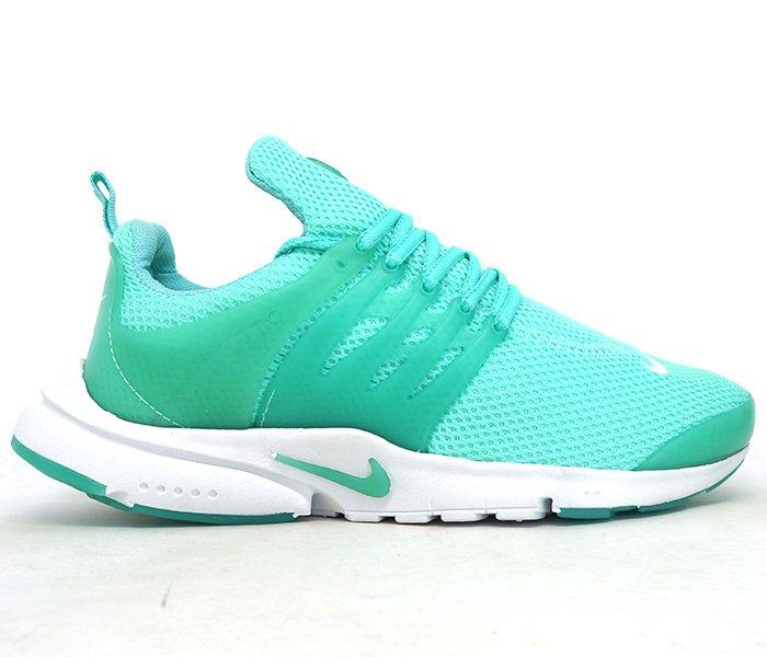 6c7ac23d6a0 Tênis Nike Air Presto Verde água e Branco