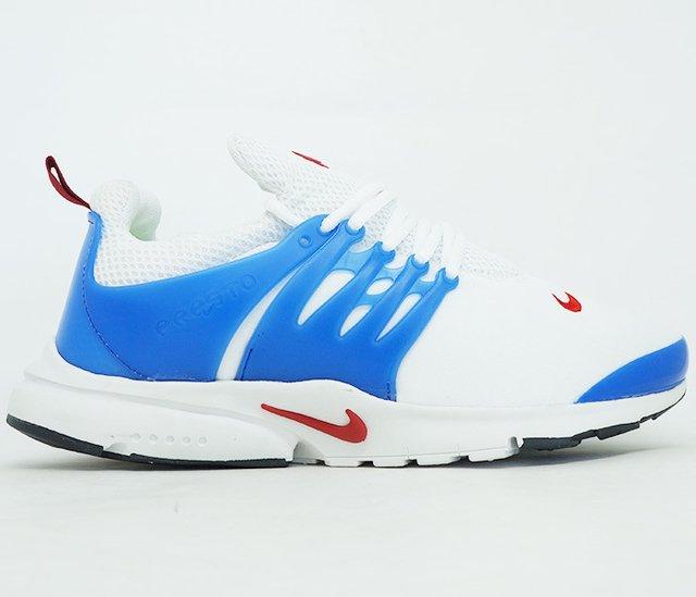 2dc2bf2bd2e Tênis Nike Air Presto Branco e Azul