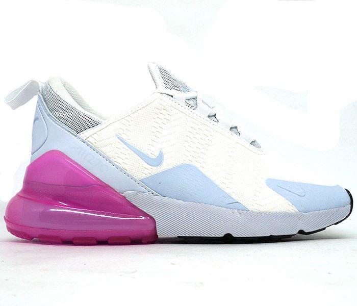 76811c9af82 Tênis Feminino Nike Air Max 270 Branco e Rosa