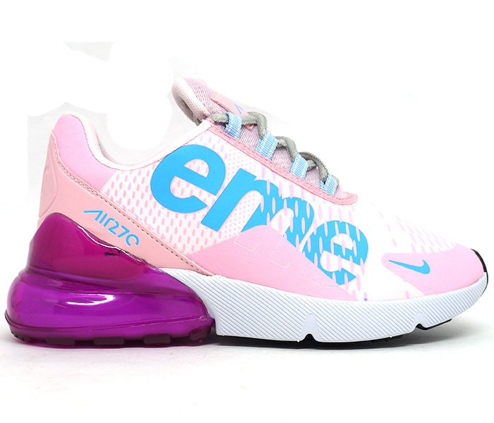 2766c1c2f4a Tênis Feminino Nike Air Max 270 Supreme Rosa e Branco