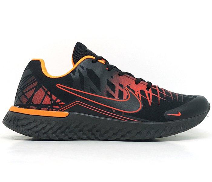 0379d160e49 Tênis Nike Air Turno Preto e Laranja