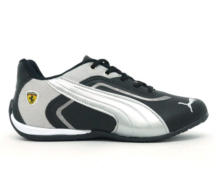 9ce9c2b3d Tênis Puma Ferrari New Preto e Prata