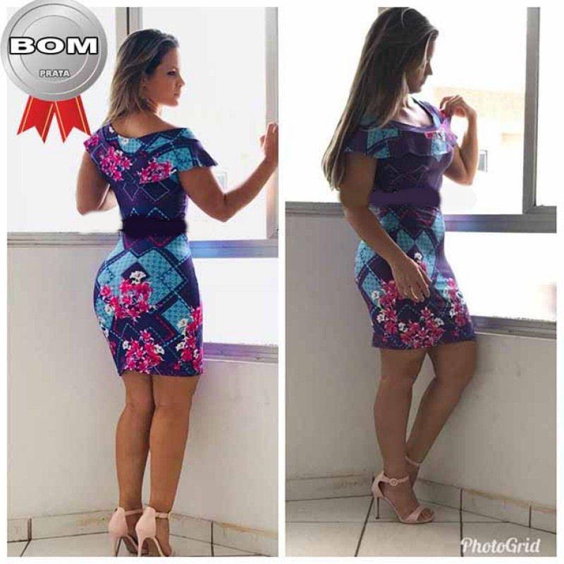 1fed259df 12 Vestidos Femininos Suplex Estampados Atacado Revenda!
