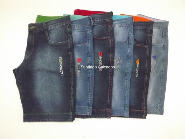 Kit 6 bermudas Jeans masculinas Top!