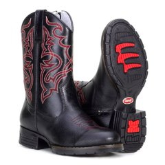 Bota Country Texana 55101 Com Bordado Ve...