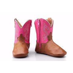 Bota Country Texana 050 Cano Alto - Ros...