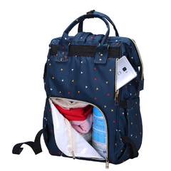 MOCHILA MATERNAL NAVY TRIANGLES + MOCHI LUNCHERA INFANTIL CORNELIA CAT en internet