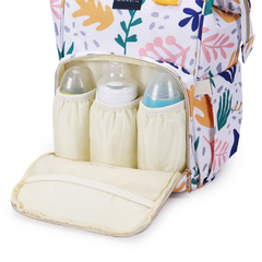 Imagen de MOCHILA MATERNAL MINI PATTERNS + MOCHI LUNCHERA INFANTIL CORNELIA CAT