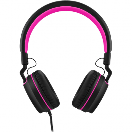 Headphone On Ear Stereo Preto/Rosa - Pulse - PH160