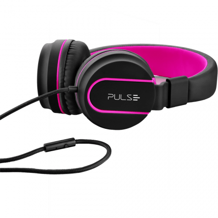 Headphone On Ear Stereo Preto/Rosa - Pulse - PH160 - comprar online