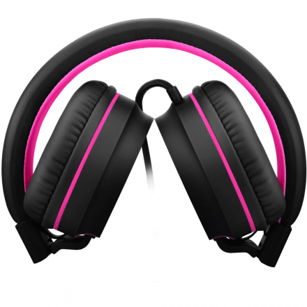 Headphone On Ear Stereo Preto/Rosa - Pulse - PH160 na internet