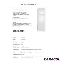 HELADERA PHILCO CT290B en internet