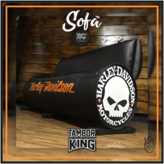 King - Sofá: Harley-Davidson Skull - (Tema Alternativo) na internet