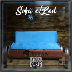 King - Sofá: Barbearia Titan - (Tema Alternativo) - comprar online