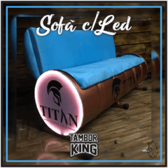 King - Sofá: Barbearia Titan - (Tema Alternativo)
