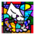 Miniprints Romero Britto Blue Cat - comprar online