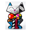 Escultura Romero Britto Assinada Bow Tie Cat