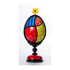 Escultura Romero Britto Assinada New Life Flowers