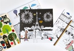 City Tour - Paris - Cuaderno para colorear + Stickers - Ceci & Lieve - tesoros para regalar
