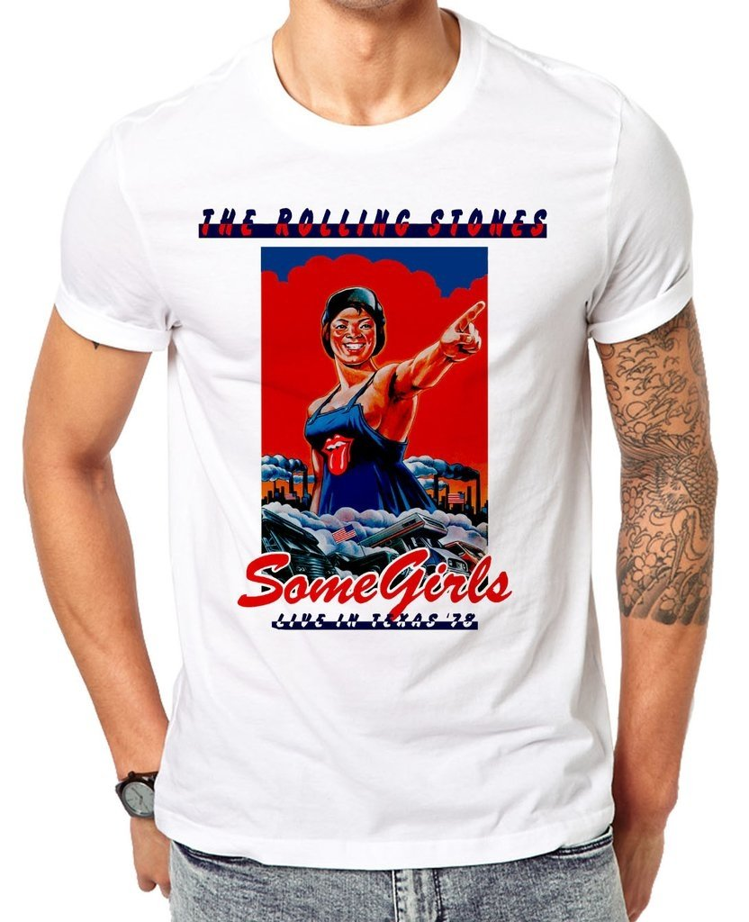Remeras The Rolling Stones - Some Girls Live Texas 78