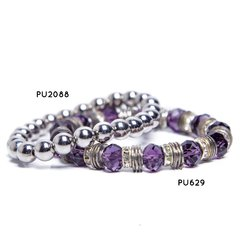 Pulsera Metalic Rock - PU2088 / Pulsera Purple Rock - PU629