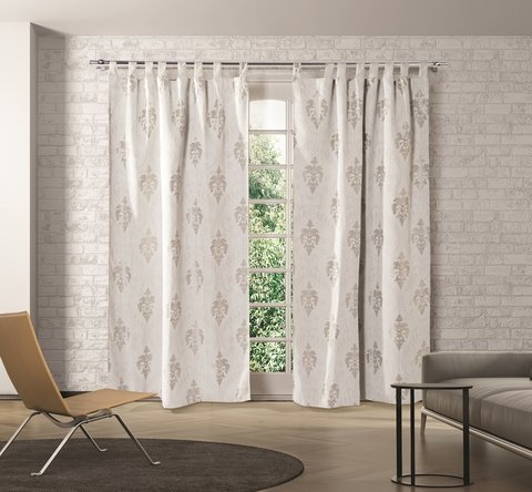 Cortinas de Ambiente Blackout Jacquard - Love And Home