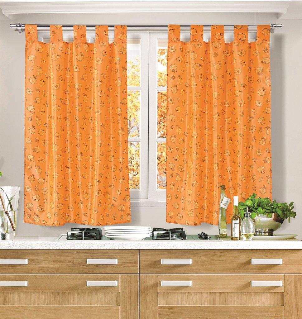 Cortinas cocina naranja mazana franca valeri for Cortinas naranjas
