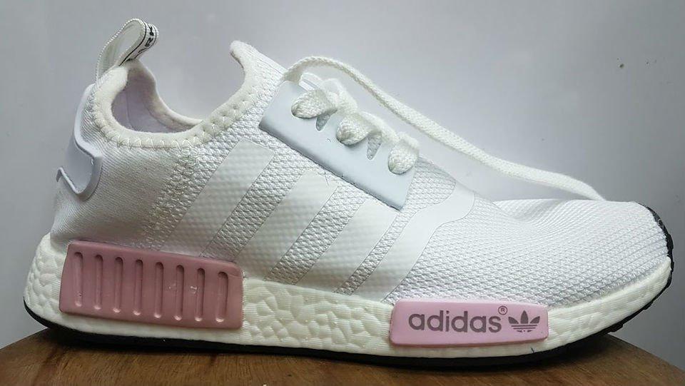 adidas nmd r1 branco e rosa
