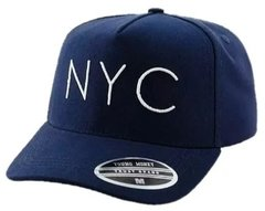 Boné NYC New York Aba Curva Strapback Marrom na internet