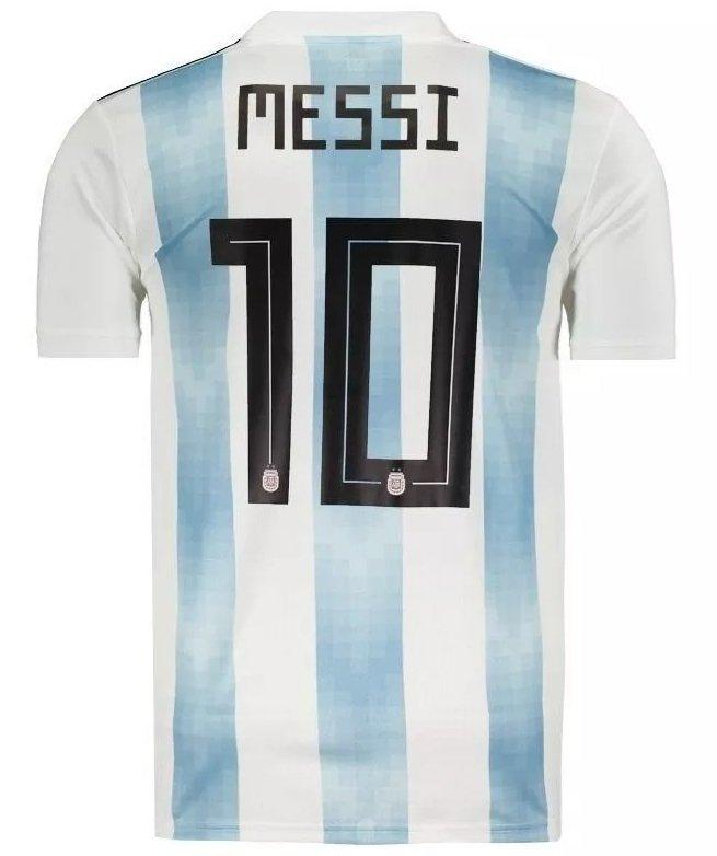 3df821e7cee41 Camisa Seleção Argentina Home 2018 N° 10 Messi (Masculina)