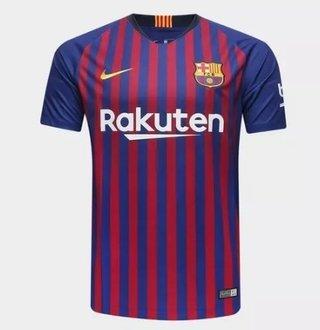 Camisa Barcelona I 2018/19 S/Nº (Masculi...
