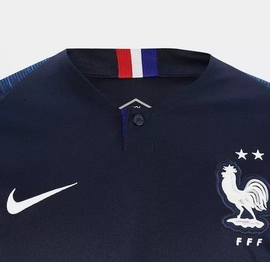 47fa3b6a9 Camisa Seleção França 2 Estrelas 2018 Personalize (Masculina)