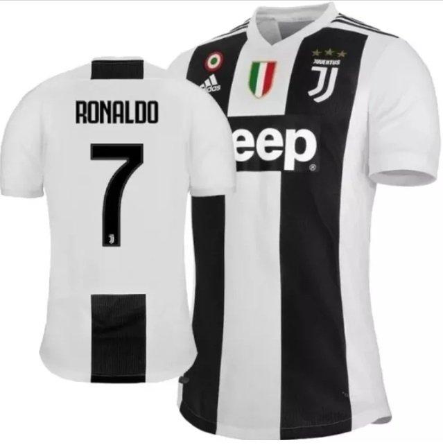 0e42ca61f Camisa Juventus 2018 19 Nº 7 Ronaldo (Masculina)
