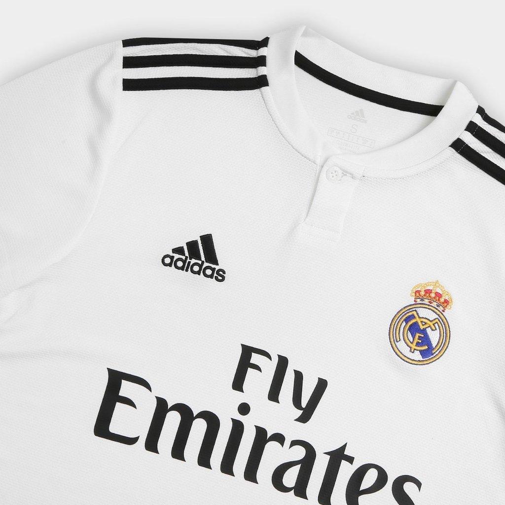 ddb3ea8452 Camisa Real Madrid 2018/19 S/Nº (Masculina). 0% OFF. 1