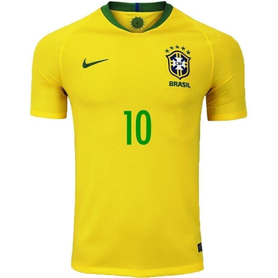 b69312473b Camisa Seleção Brasileira Amarela 2018 Nº 10 Neymar Jr (Masculina). 0% OFF