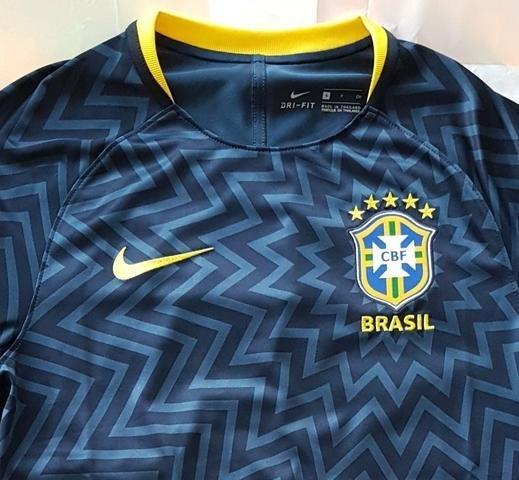 Camisa Seleção Brasileira Pré Jogo (Masculina). 0% OFF d77cb2a06be14