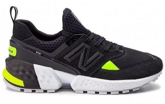 Venta > new balance preto e verde > en stock