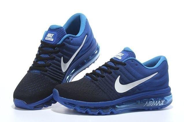 brand new 68b41 5032f Tênis Nike Air Max 2017 Preto C/Azul (Masculino)
