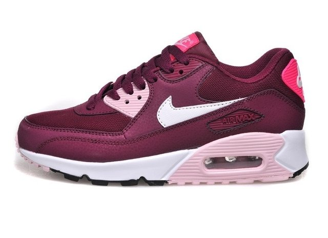 3e7155012be9ee ... real tênis nike air max 90 essential vinho c rosa feminino eaf55 cb8ad