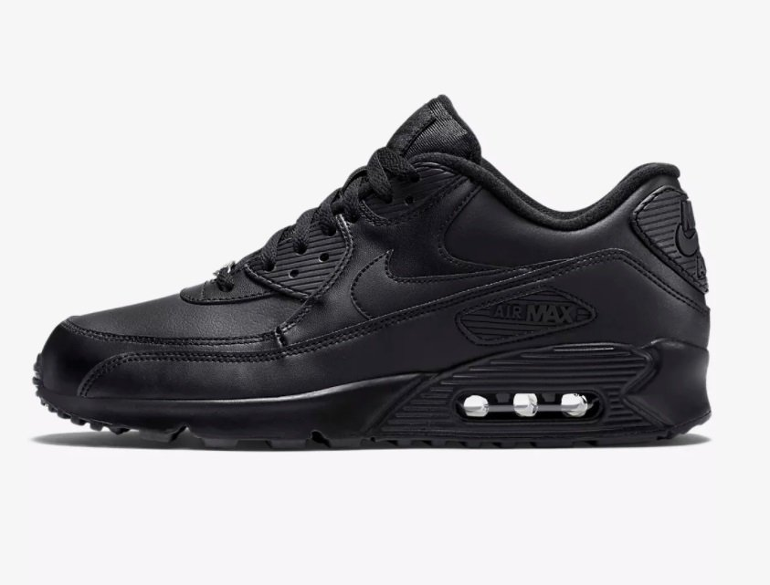Tênis Nike Air Max 90 Leather Preto (Masculino)