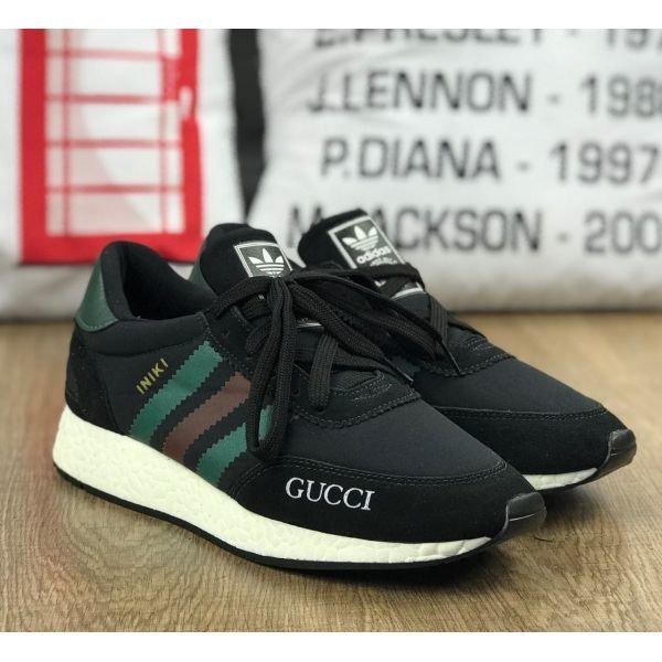 90a6e211fab Tênis Adidas INIKI Runner Gucci Preto (Masculino)