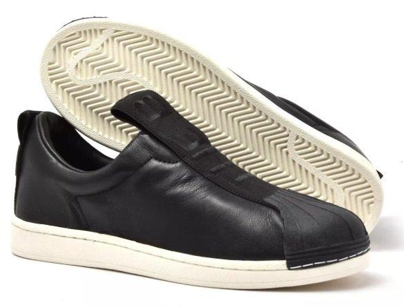 85aa3fea094d4 Tênis Adidas Slip-On BW Preto Couro